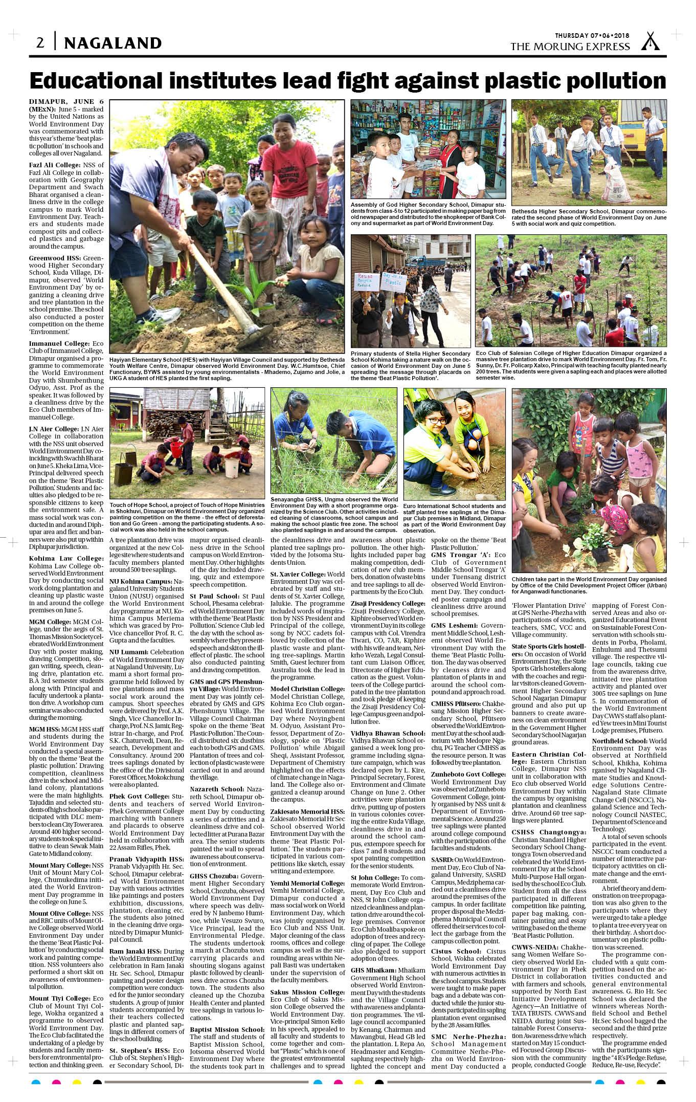 June 07, 2018 Page: 2 - The Morung Express E-Paper - Morung