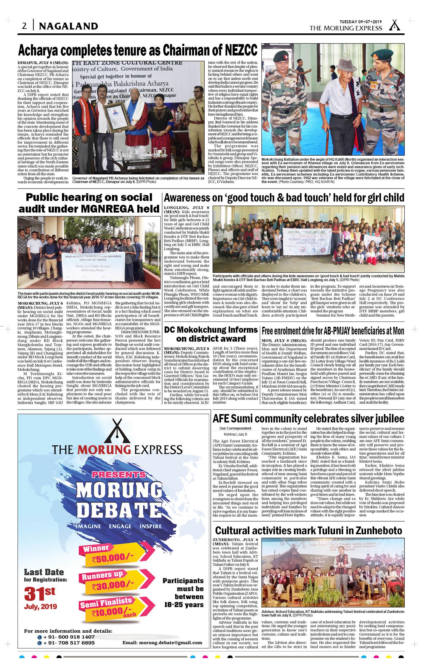 July 9, 2019 Page: 2 - The Morung Express E-Paper - Morung